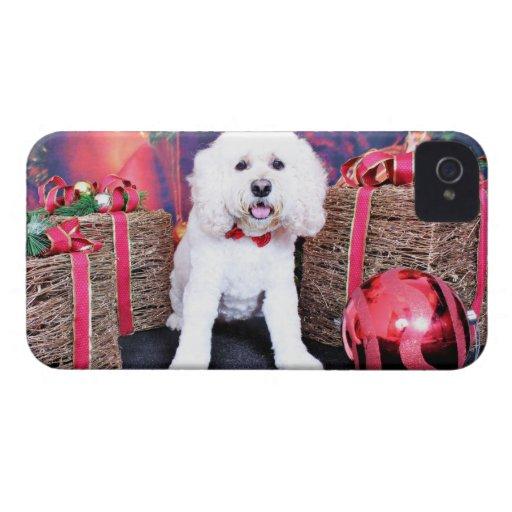 Navidad - Cockapoo - desaliñado Case-Mate iPhone 4 Cárcasas