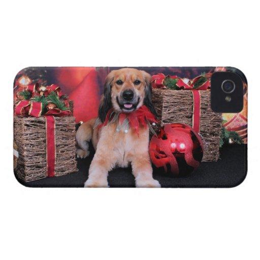 Navidad - cocker de oro - LIL iPhone 4 Carcasas