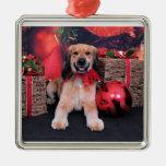 Navidad - cocker de oro - LIL Ornamento De Navidad