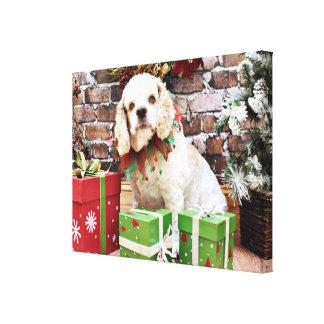 Navidad - cocker spaniel - Cammie Impresiones En Lienzo Estiradas