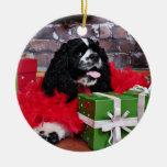 Navidad - cocker spaniel - Maggie Ornamento Para Arbol De Navidad