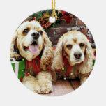 Navidad - cocker spaniel - pecas y Mollie Adornos