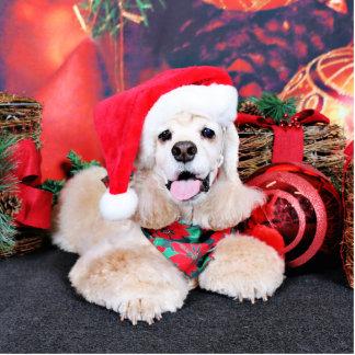 Navidad - cocker spaniel - Tobey Esculturas Fotograficas