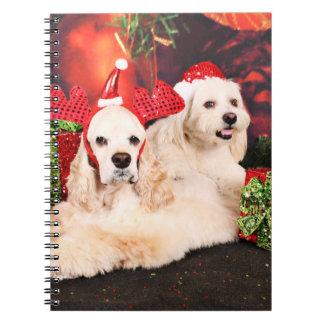 Navidad - cocker - Toby, Havanese - poco T Cuaderno