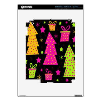 Navidad colorida, juguetona pegatinas skins para iPad 3