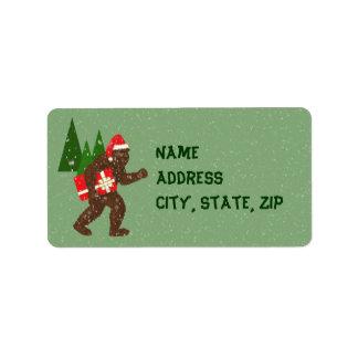"""""""Navidad con Bigfoot"""" Etiquetas De Dirección"""