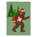 """""""Navidad con Bigfoot"""" Tarjeta De Felicitación"""