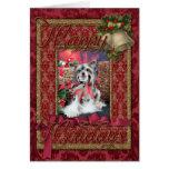 Navidad - con cresta chino - Sheeba Tarjeta De Felicitación