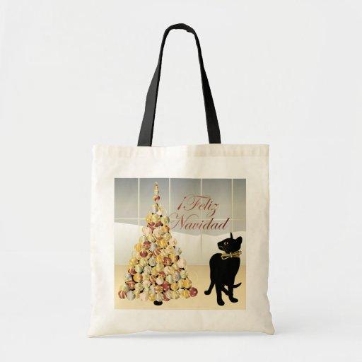 Navidad con el bolso del español de Bella Bolsa Tela Barata