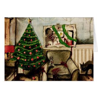 Navidad con la tarjeta de Navidad del zombi de los