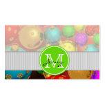 Navidad con monograma tarjetas de visita