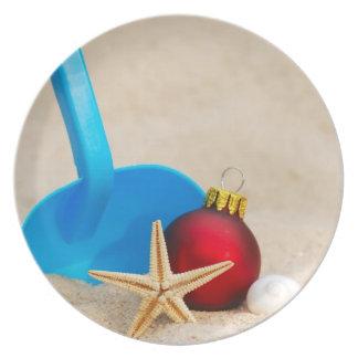 Navidad con playas plato