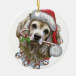 Navidad con Toby cocker spaniel Ornamentos De Reyes Magos