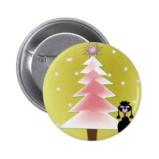 Navidad con un caniche pins