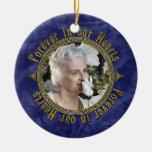 Navidad conmemorativo de la foto de los azules mar ornamente de reyes