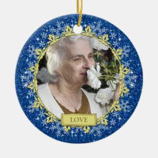 Navidad conmemorativo de la foto de los copos de n ornamento de reyes magos