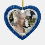 Navidad conmemorativo del corazón de la plata del  adornos de navidad