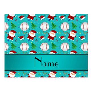 Navidad conocido personalizado del béisbol de la postales