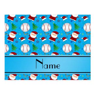 Navidad conocido personalizado del béisbol del tarjetas postales