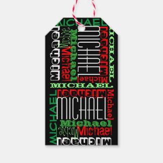 Navidad conocido personalizado personalizado de etiquetas para regalos