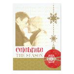 Navidad contemporáneo 5 x 7 tarjetas de la foto invitación 12,7 x 17,8 cm