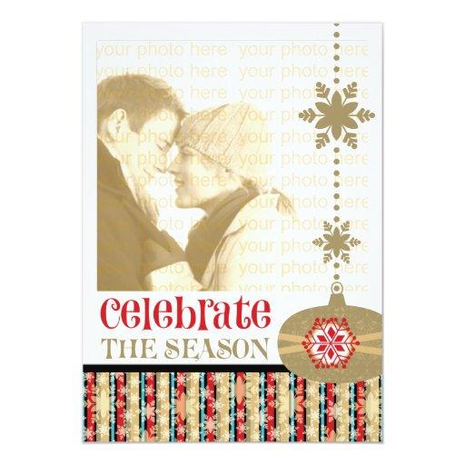"""Navidad contemporáneo 5 x 7 tarjetas de la foto invitación 5"""" x 7"""""""