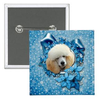 Navidad - copo de nieve azul - caniche - albaricoq pin