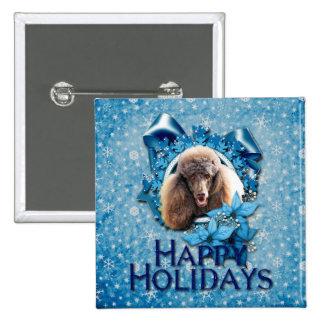 Navidad - copo de nieve azul - caniche - chocolate pins
