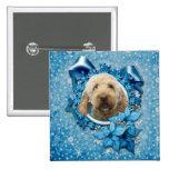 Navidad - copo de nieve azul - Goldendoodle Pins