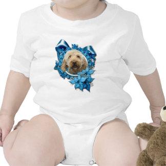 Navidad - copo de nieve azul - Goldendoodle Trajes De Bebé