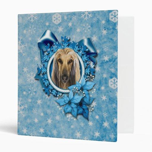 Navidad - copos de nieve azules - afgano