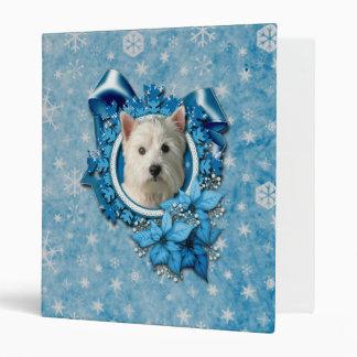 Navidad - copos de nieve azules - montaña del oest