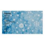 Navidad - copos de nieve azules - perro suizo de tarjetas de visita