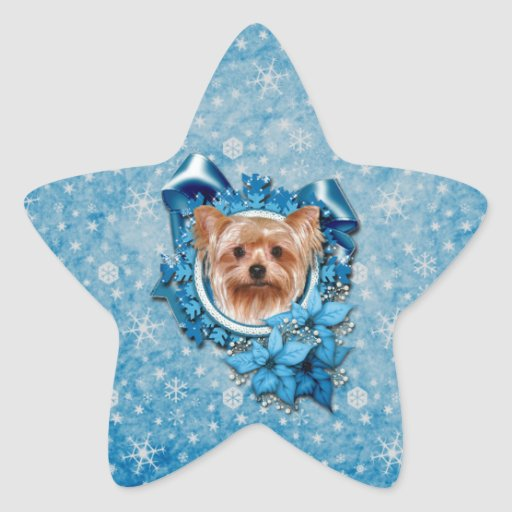 Navidad - copos de nieve azules - Yorkshire Colcomania Cuadrada