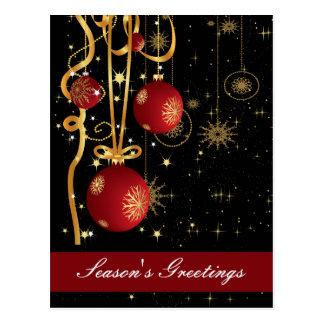 Navidad corporativo que saluda las postales
