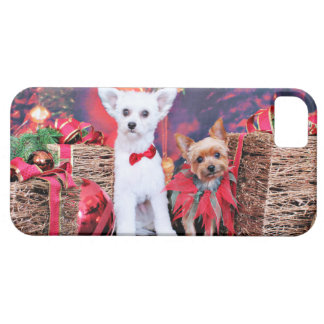 Navidad - Crestie Mojo - Yorkie Millie iPhone 5 Coberturas