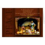 Navidad cristiano de la escena de la natividad… -  tarjetón