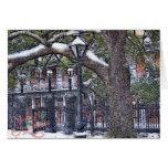 Navidad cuadrado de la nieve de Jackson Tarjetas