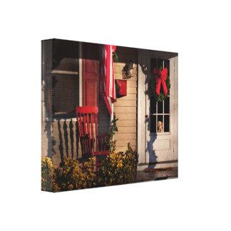 Navidad - cuánto es ese perrito en la ventana impresión en lona
