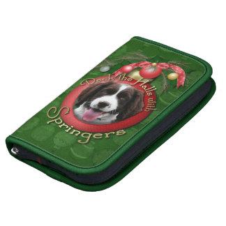 Navidad - cubierta el perro de aguas de saltador planificador