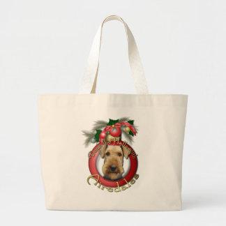 Navidad - cubierta los pasillos - Airedales Bolsas