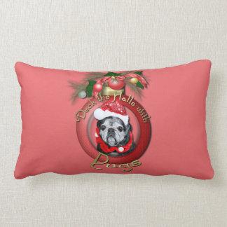 Navidad - cubierta los pasillos - barros amasados cojín