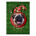 Navidad - cubierta los pasillos - barros amasados tarjeta de felicitación
