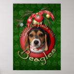 Navidad - cubierta los pasillos - beagles poster