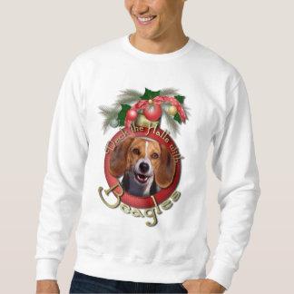 Navidad - cubierta los pasillos - beagles sudadera