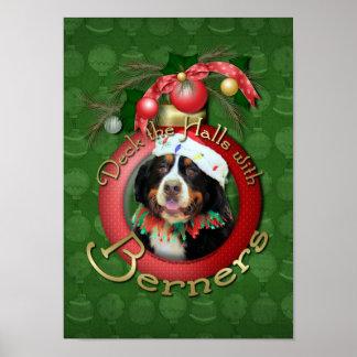 Navidad - cubierta los pasillos - Berners Póster