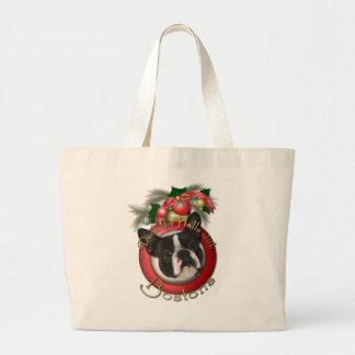 Navidad - cubierta los pasillos - Bostons Bolsas De Mano