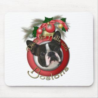 Navidad - cubierta los pasillos - Bostons Alfombrilla De Ratón