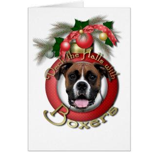 Navidad - cubierta los pasillos - boxeadores -