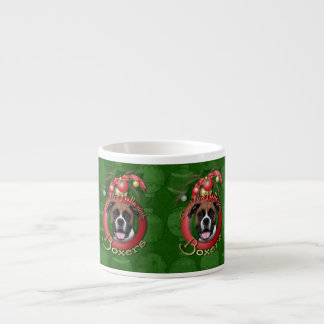 Navidad - cubierta los pasillos - boxeadores - taza espresso